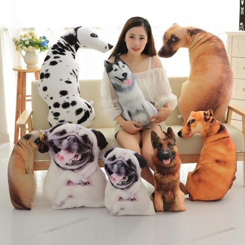 Забавная 3D-подушка в виде собаки