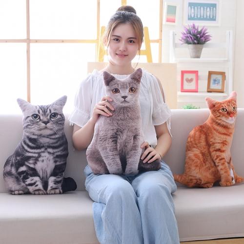 Забавная 3D-подушка в виде кошек
