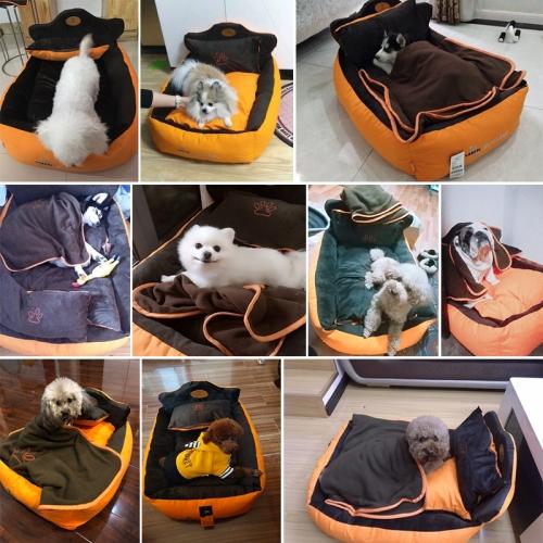 Кроватка для собачки с подушкой и одеялом