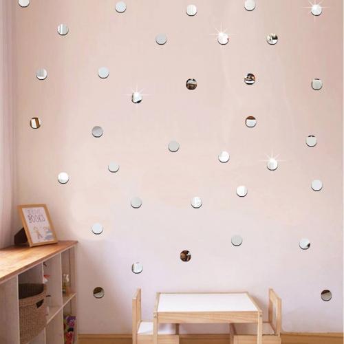 Зеркальные наклейки на стену или потолок