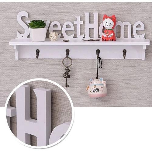Вешалка настенная с полочкой Sweet Home для ключей и одежды
