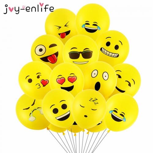 Воздушные шарики со смайлами