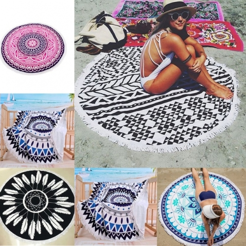 Пляжный коврик круглый