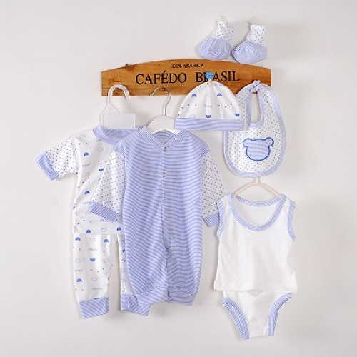 Комплект одежды для новорожденных, 8 эл, 4 цвета