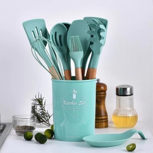 Набор кухонных элементов с чашей, 9-12 элементов, 2 цвета