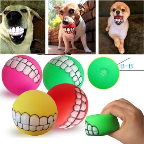 Креативный мяч для собак с пищалкой