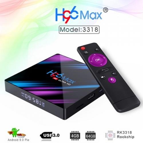 ТВ-приставка на андроид H96 MAX 4K Ultra HD
