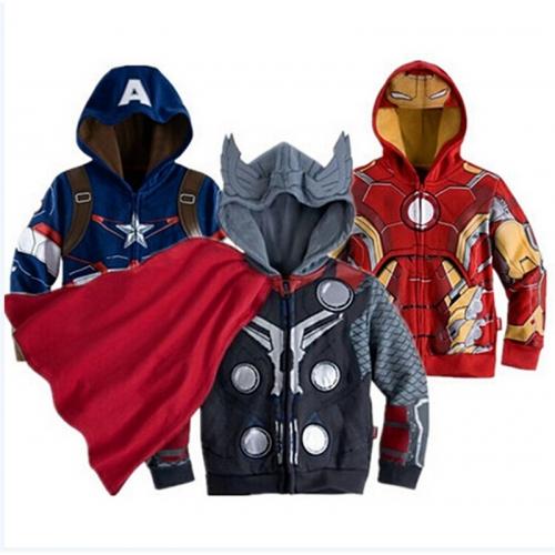 Детская куртка Marvel (Мстители, Железный человек, Человек паук)