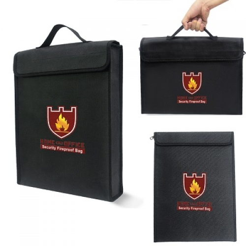 Огнеупорная и влагостойкая сумка для денег и документов