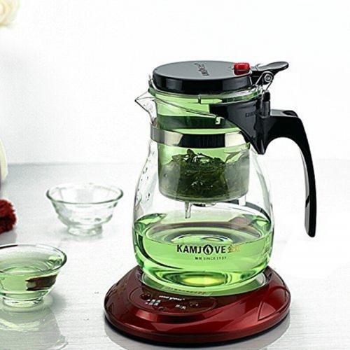 Стеклянный чайник-заварник с ложкой