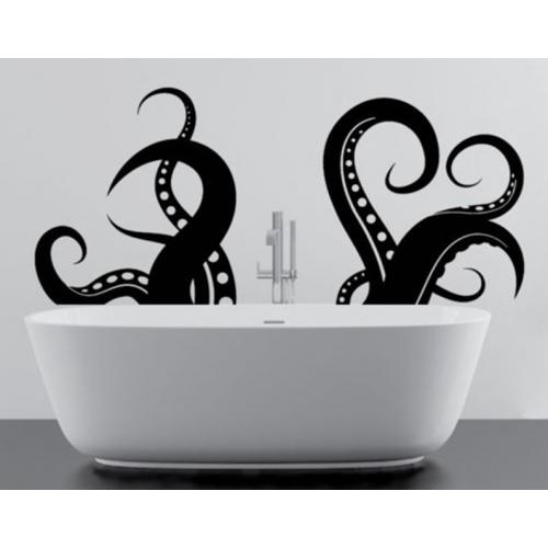 Виниловые наклейки на стену - Щупальца осьминога