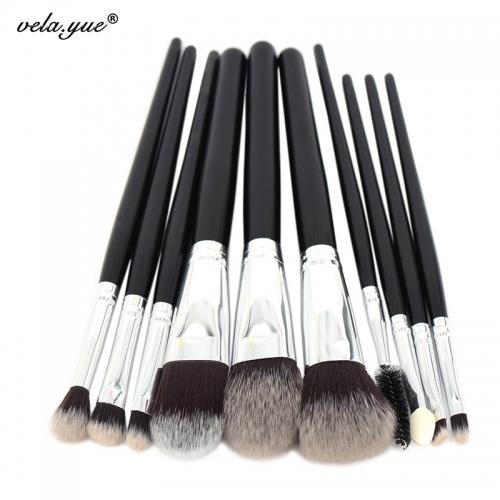 Профессиональные кисти для макияжа (10 шт)