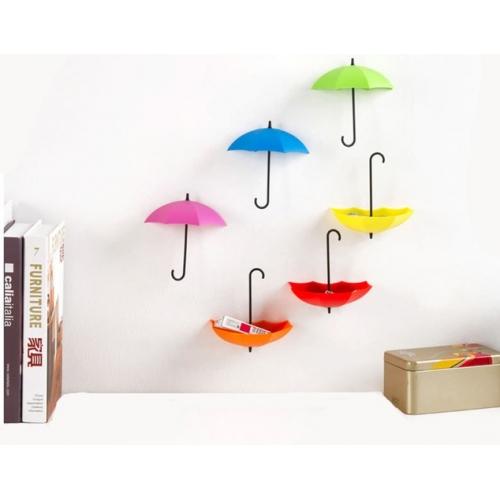Крючки на стену в виде зонтиков (6 шт)