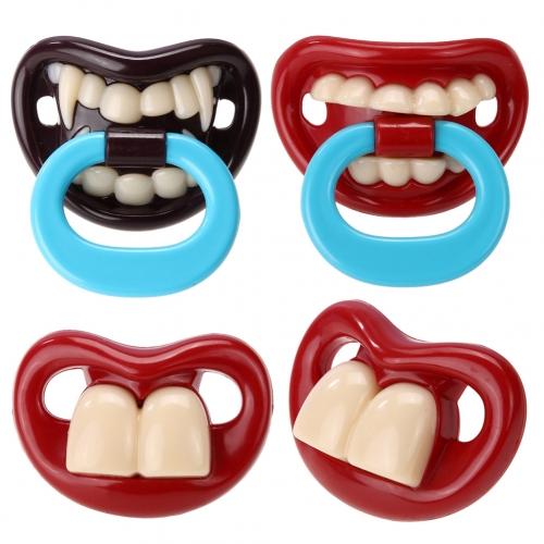 Крутая соска «Зубы» для веселых родителей